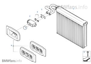evaporator with expansion valve